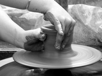 The potters wheel..
