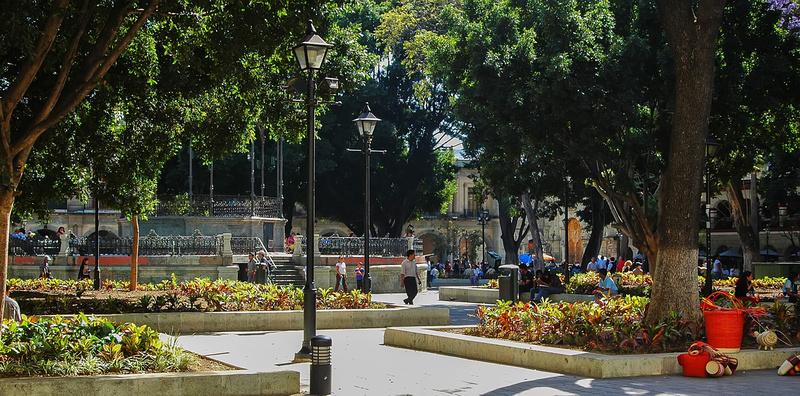 Almeda de Leon plaza,Oaxaca, mexico